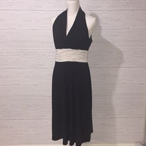 Evan-Picone Black and Cream Cocktail Dress